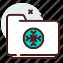 folder, list, office, organizer, winter icon