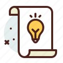 bulb, light, list, office, organizer icon