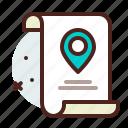 list, location, office, organizer icon