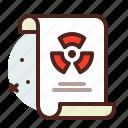 list, office, organizer, radiation icon