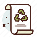list, office, organizer, recycle icon