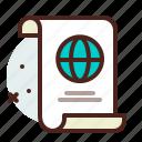 list, office, organizer, world icon