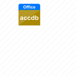accdb, extension, file format, microsoft, ms access, ms office, office icon
