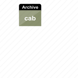 archive, cab, extension, file format icon