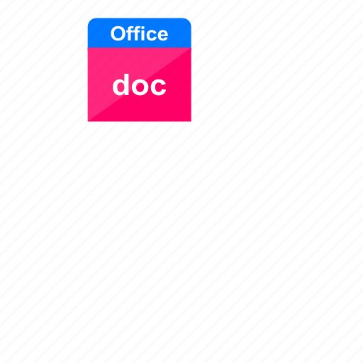 doc, document, file format, microsoft, ms office, office, word icon