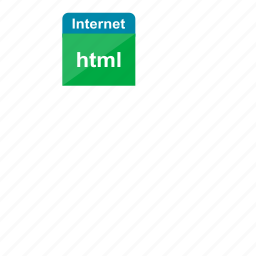 extension, file format, html, internet icon