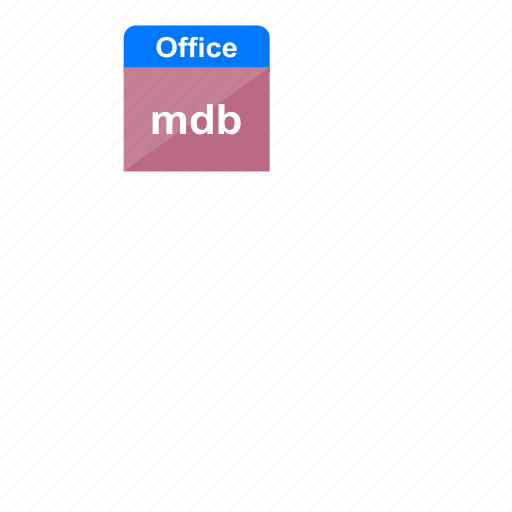 extension, file format, mdb, microsoft, ms access, ms office, office icon