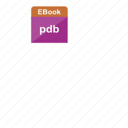 ebook, extension, file format, pdb icon