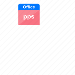 document, file format, microsoft, ms office, office, power point, pps icon