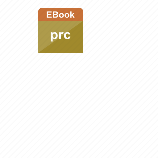 ebook, extension, file format, prc icon