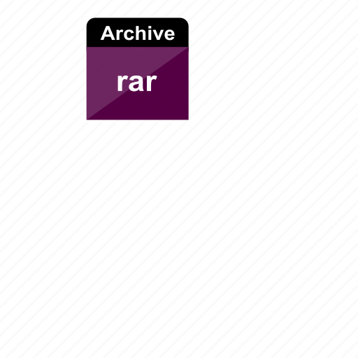 archive, extension, file format, rar icon