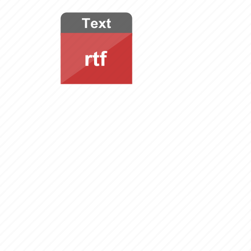extension, file format, rtf, text icon