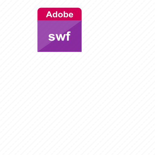 adobe, extension, file format, flash, swf icon