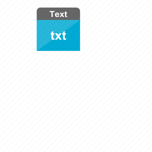 document, extension, file format, text, txt icon