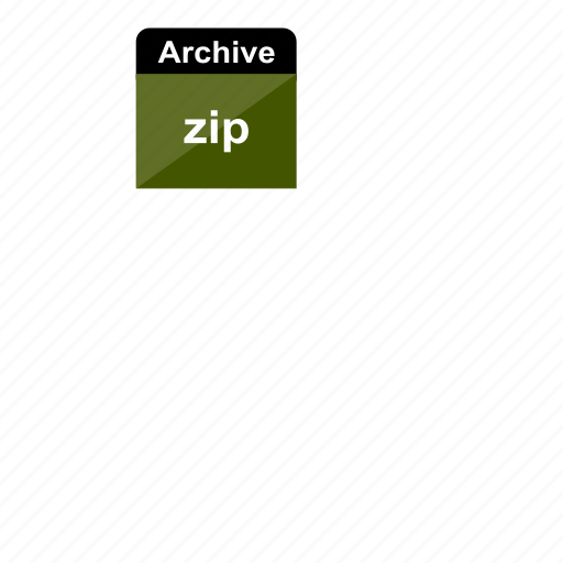 archive, extension, file format, zip icon