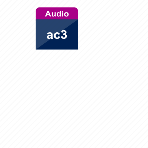 ac3, audio, extension, file format, music, sound icon