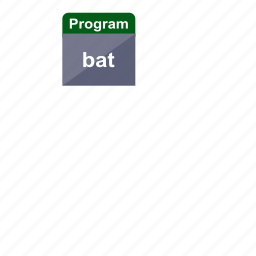 bat, executable, extension, file format, program icon