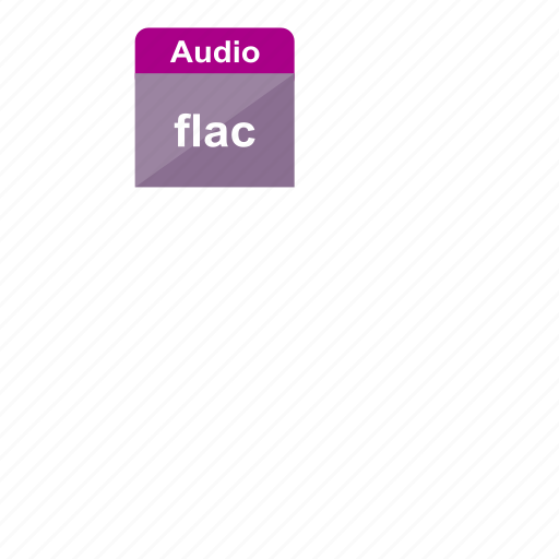audio, extension, file format, flac, music, sound icon