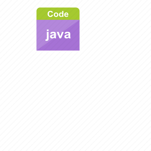 code, extension, file format, java, programming icon
