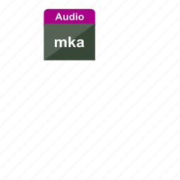 audio, extension, file format, mka, music, sound icon