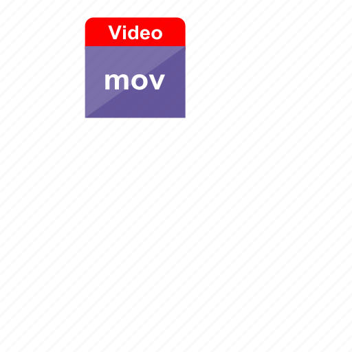 extension, file format, mov, video icon