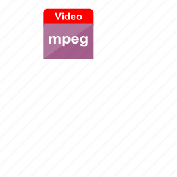 extension, file format, mpeg, video icon