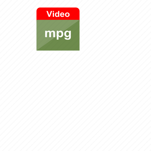 extension, file format, mpg, video icon