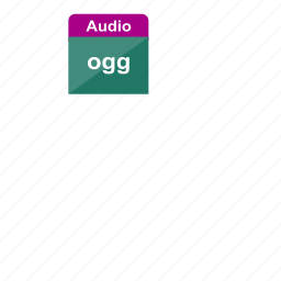 audio, extension, file format, music, ogg, sound icon