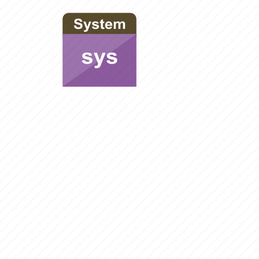 extension, file format, sys, system icon