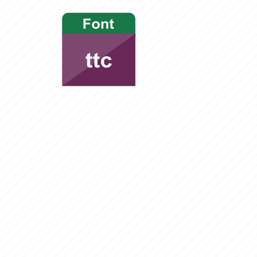 extension, file format, font, language, ttc icon