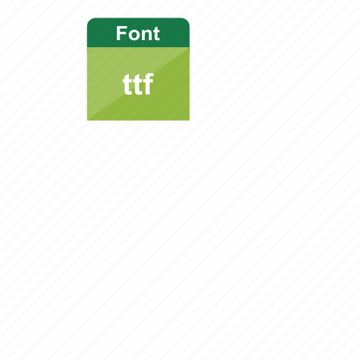 extension, file format, font, ttf icon