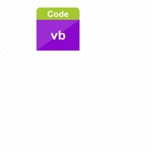 code, extension, file format, programming, vb, visual basic icon
