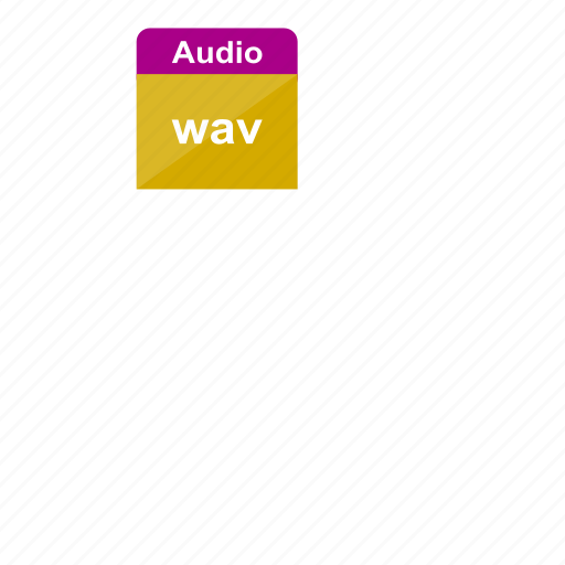 audio, extension, file format, media, music, sound, wav icon