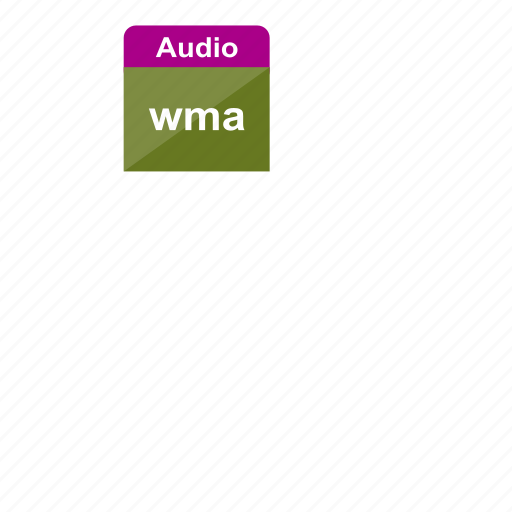 audio, extension, file format, music, sound, wma icon