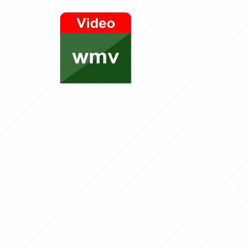 extension, file format, video, windows media player, wmv icon