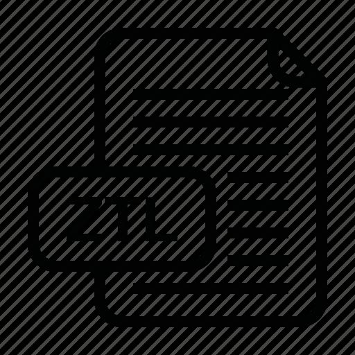 file, file format, format, ztl icon