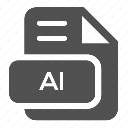 ai, document, extension, file, format, type, vector icon