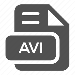 avi, document, extension, file, format, type, video icon