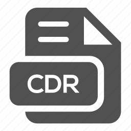 cdr, document, extension, file, format, type, vector icon