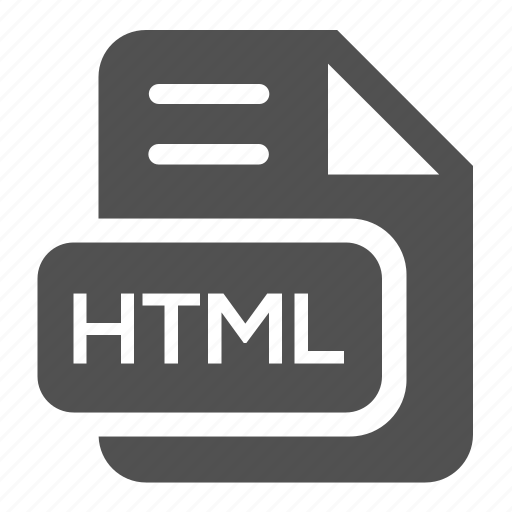 document, extension, file, format, html, text, type icon