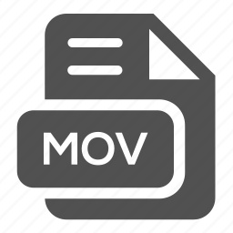 document, extension, file, format, mov, type, video icon