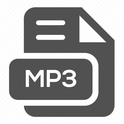 audio, document, extension, file, format, mp3, type icon