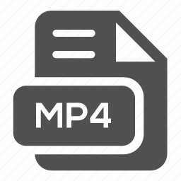 document, extension, file, format, mp4, type, video icon