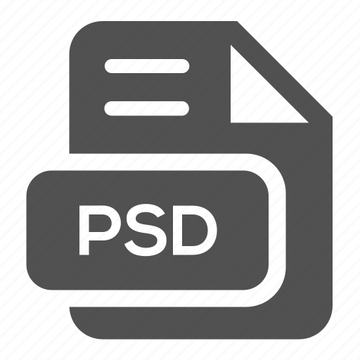 document, extension, file, format, photoshop, psd, type icon