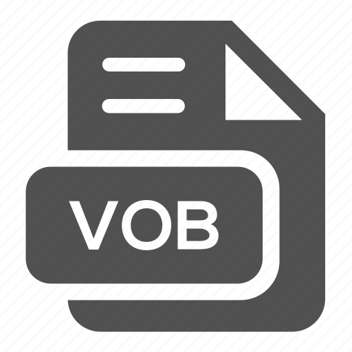 document, extension, file, format, type, vob icon