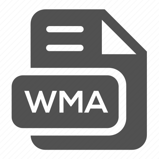 document, extension, file, format, type, wma icon
