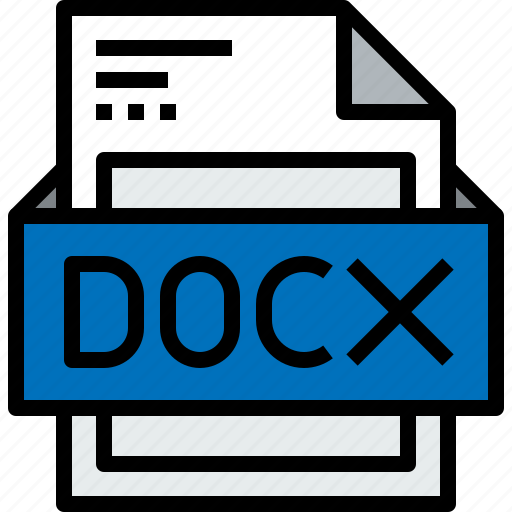 document, docx, file, format icon