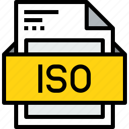 document, file, format, iso icon