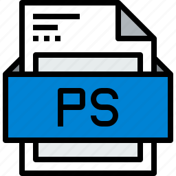 document, file, format, ps icon