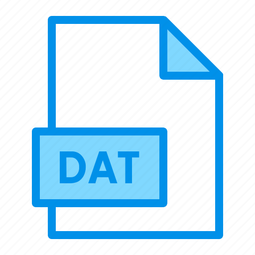 dat, document, extension, file, format icon